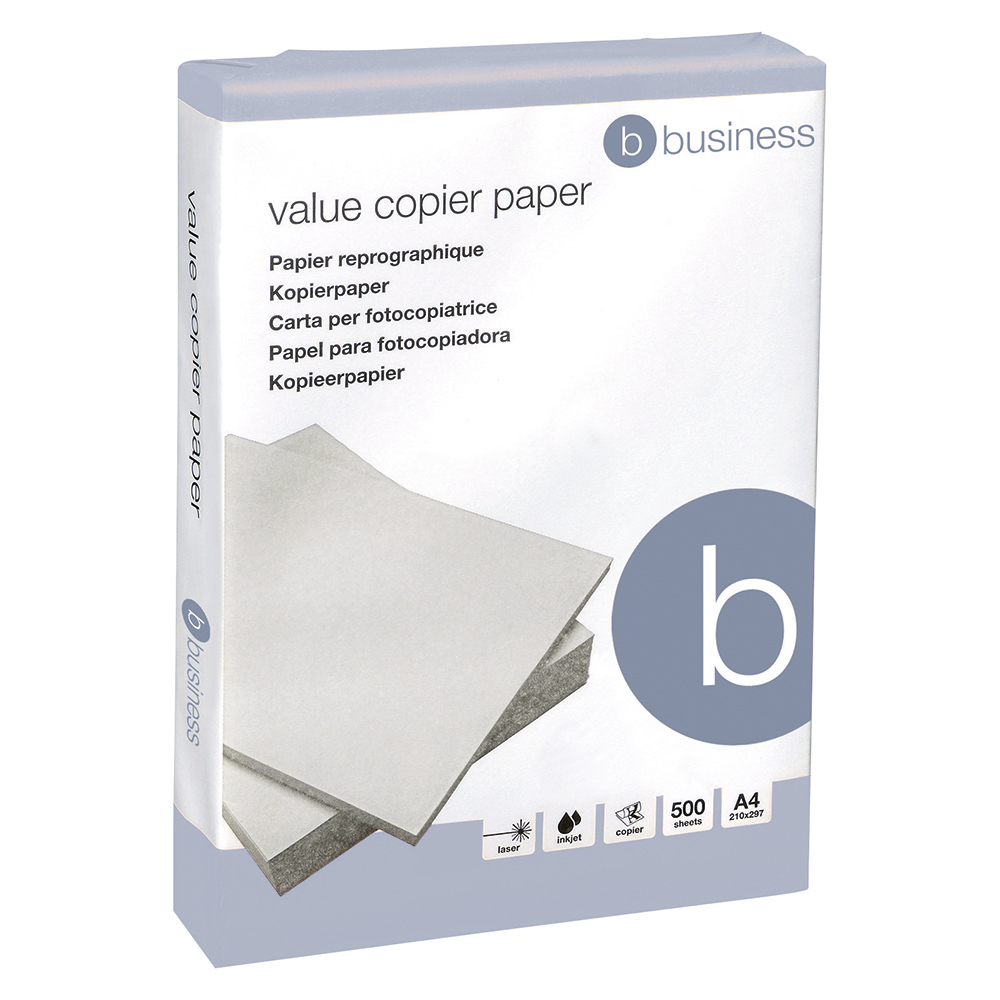Business Value Copier Paper Ream-Wrapped A4 White 5 x 500 Sheets