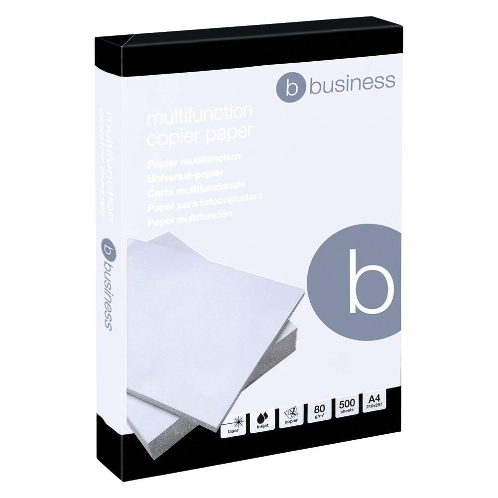 Business Office Copier Paper Multifunctional Ream-Wrapped 80gsm A4 White 5 x 500 Sheets