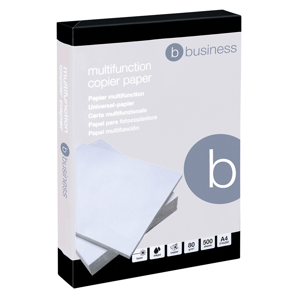 Business Office Copier Paper Multifunctional Ream-Wrapped 80gsm A4 White 500 Sheets