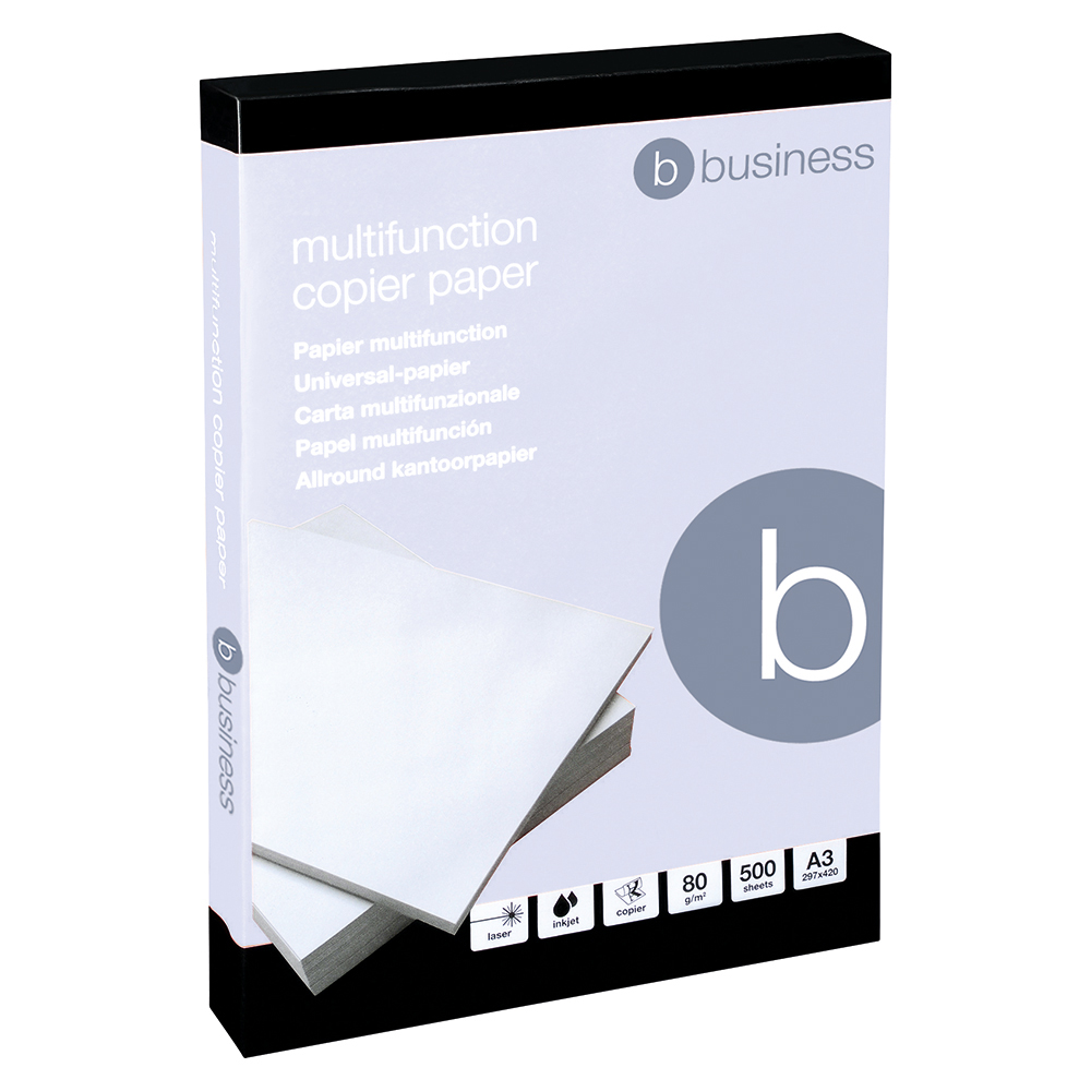 Business Office Copier Paper 80gsm A3 White (Ream of 500 Sheets)