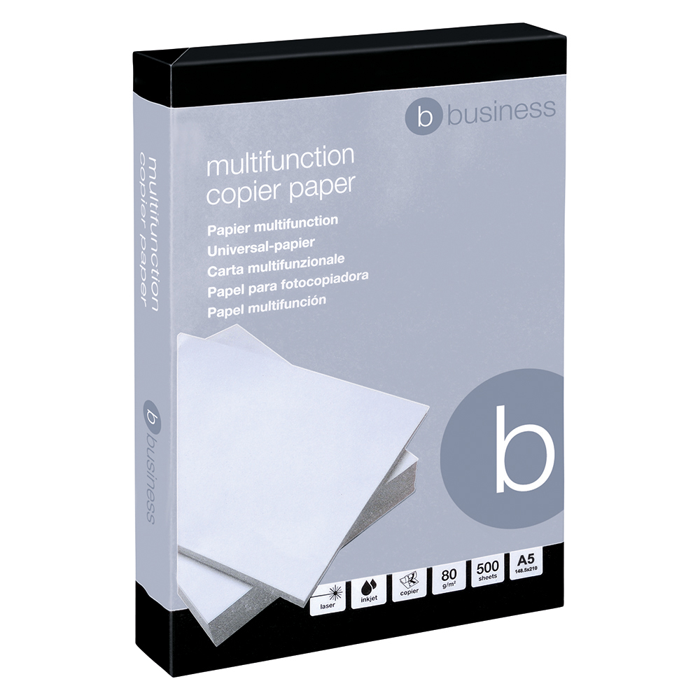Business Multifunctional Copier Paper 80gsm A5 White (Ream of 500 Sheets)