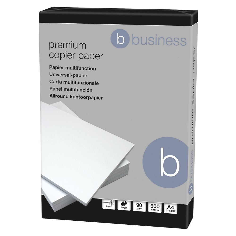 Business Elite Copier Paper Smooth 90gsm A4 White (Box of 5 Reams)