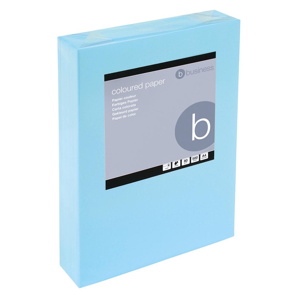 Business Coloured Copier Paper 80gsm A4 Medium Blue (Ream of 500 Sheets)