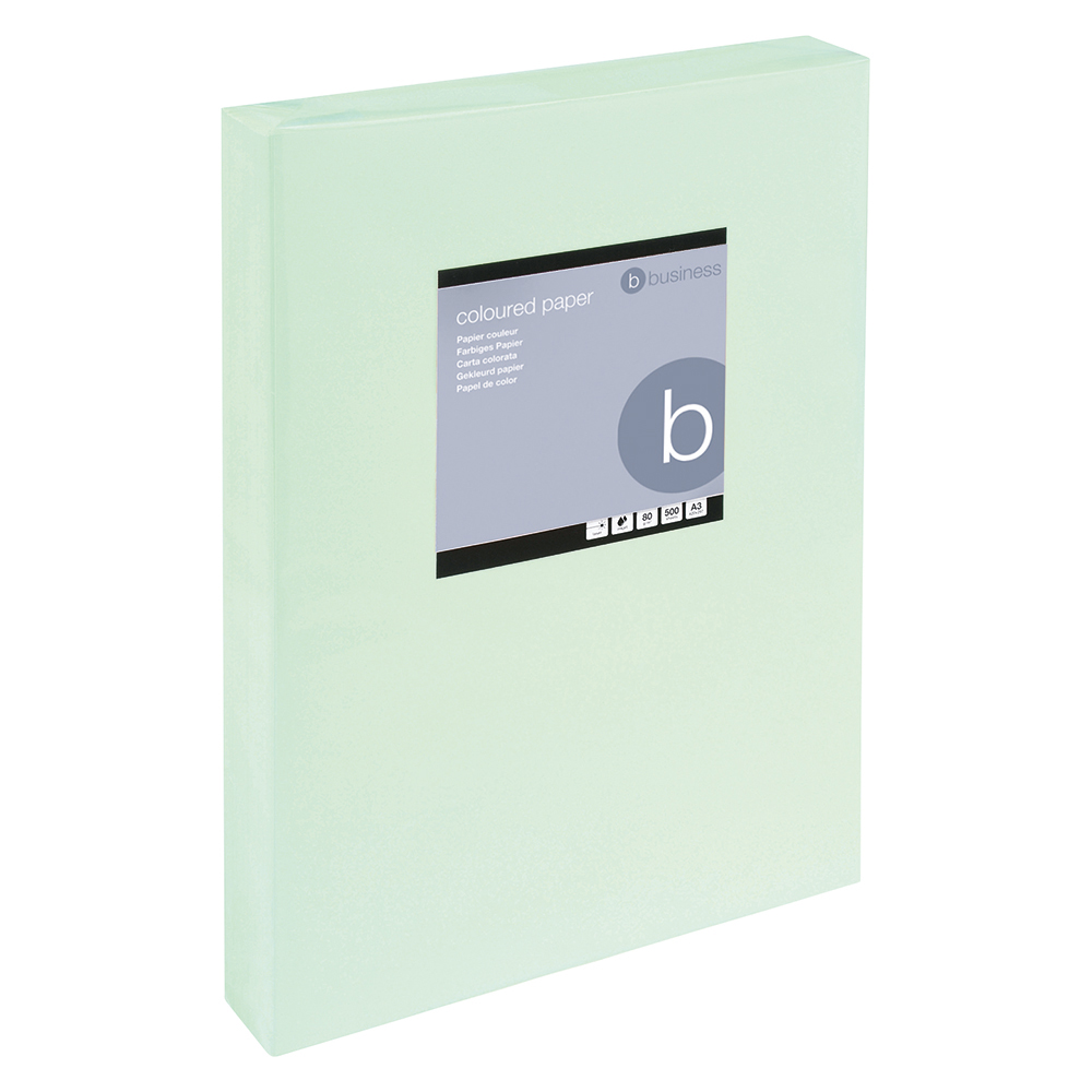 Business Office Coloured Copier Paper Multifunctional Ream-Wrapped 80gsm A3 Light Green 500 Sheets