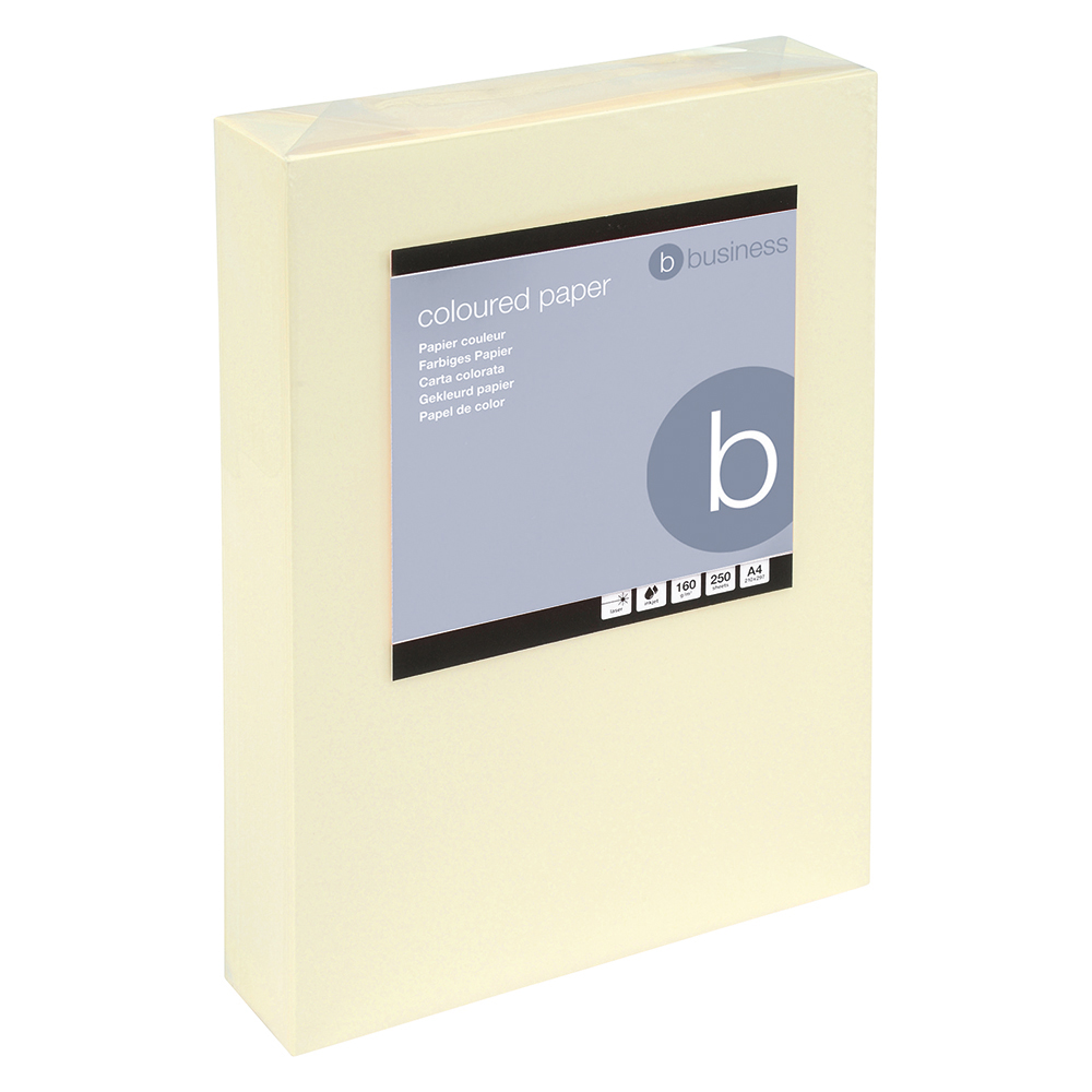 Business Office Coloured Card Multifunctional 160gsm A4 Light Cream 250 Sheets