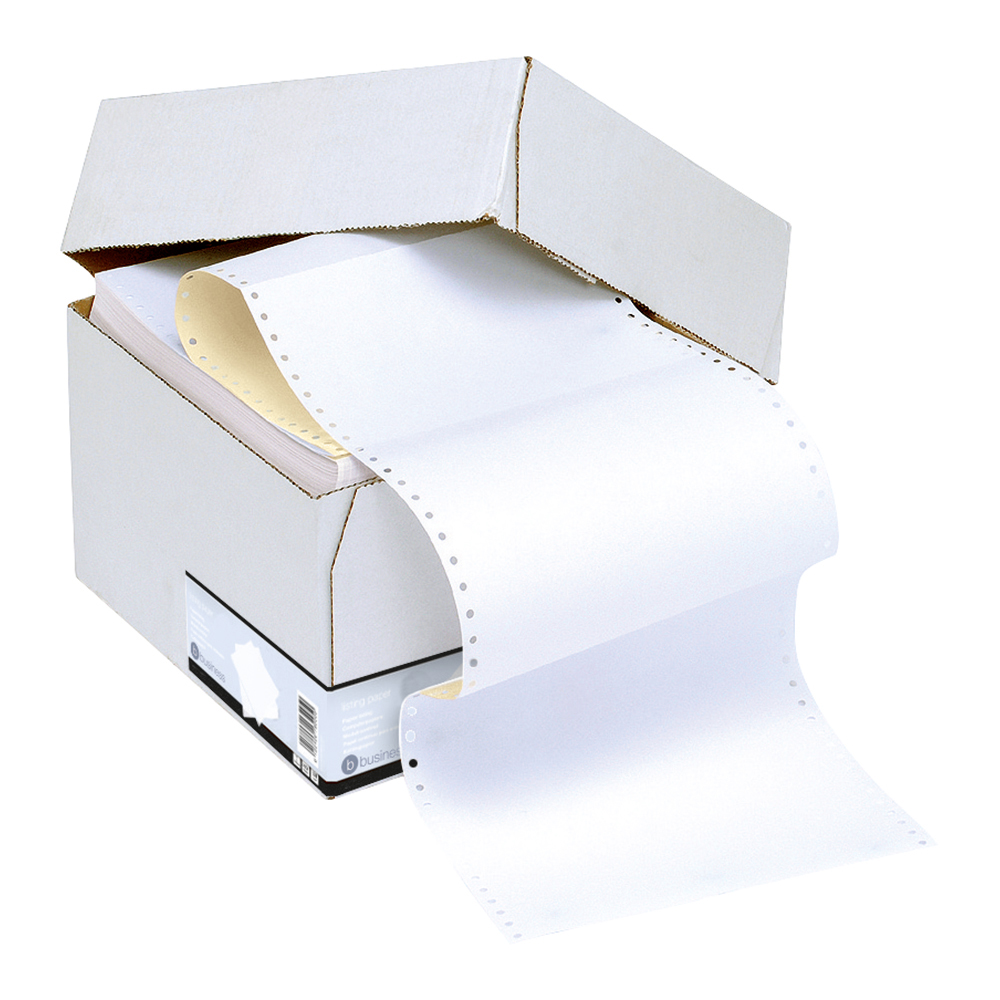 Business Office Listing Paper 2-Part Carbonless Micro-perforated 80/55gsm A4 White/Yellow 1000 Sheets