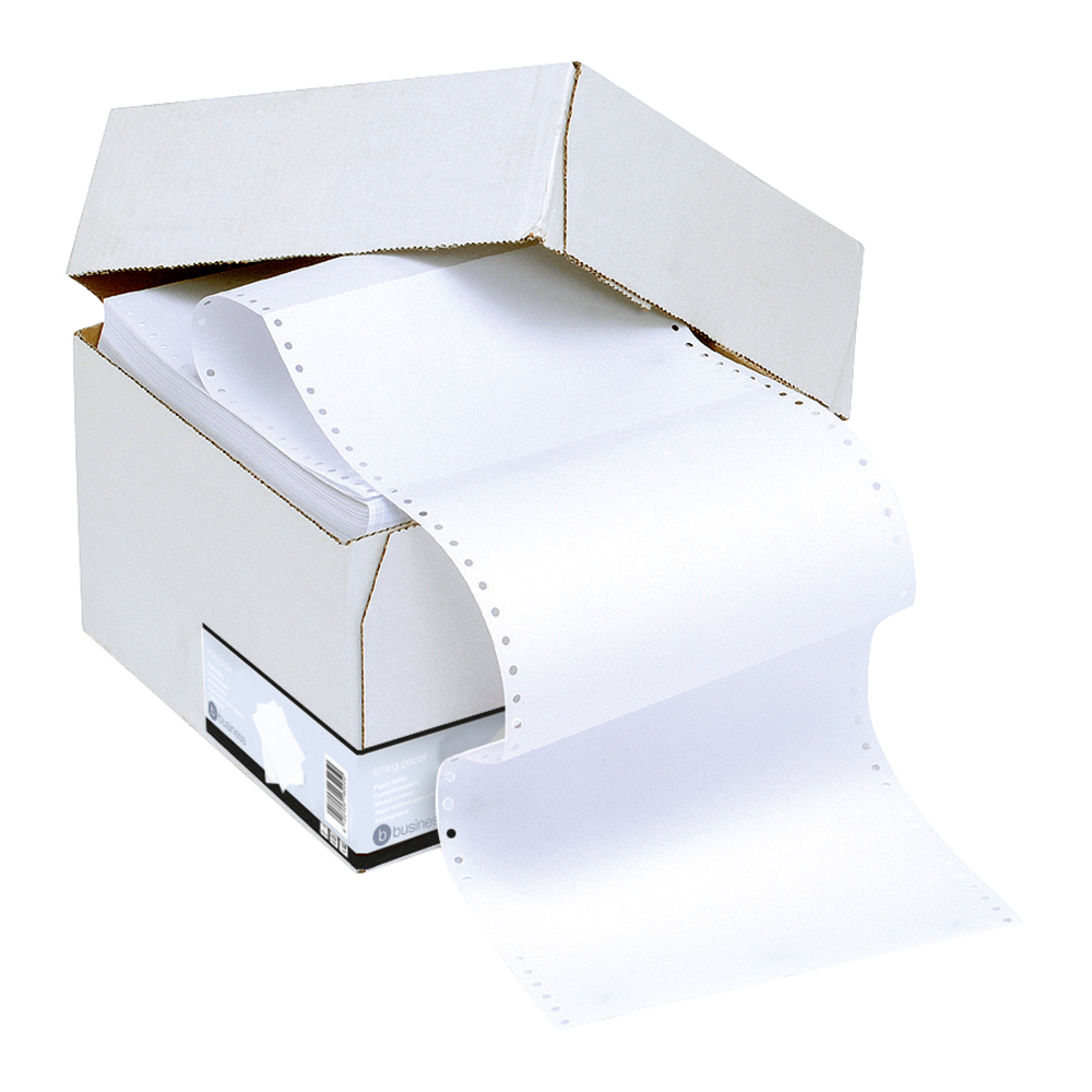 Business Office Listing Paper 1-Part Micro-perforated 60gsm 11inchx241mm Plain 2000 Sheets