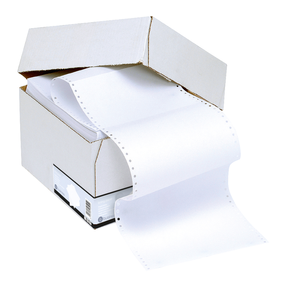 Business Office Listing Paper 1-Part Micro-perforated 70gsm A4 Plain 2000 Sheets