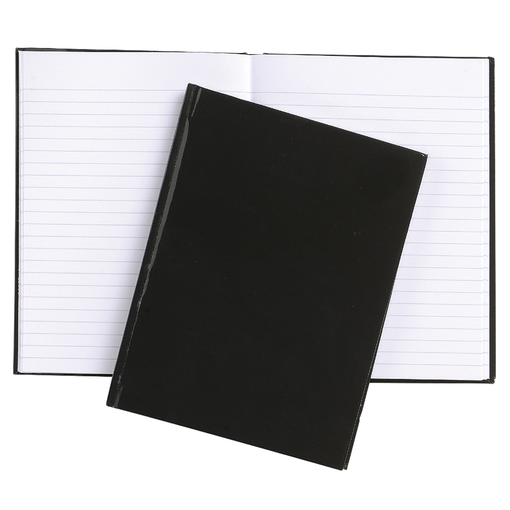 Business Office Notebook Casebound 70gsm Ruled 192pp A6 Black Pack 10