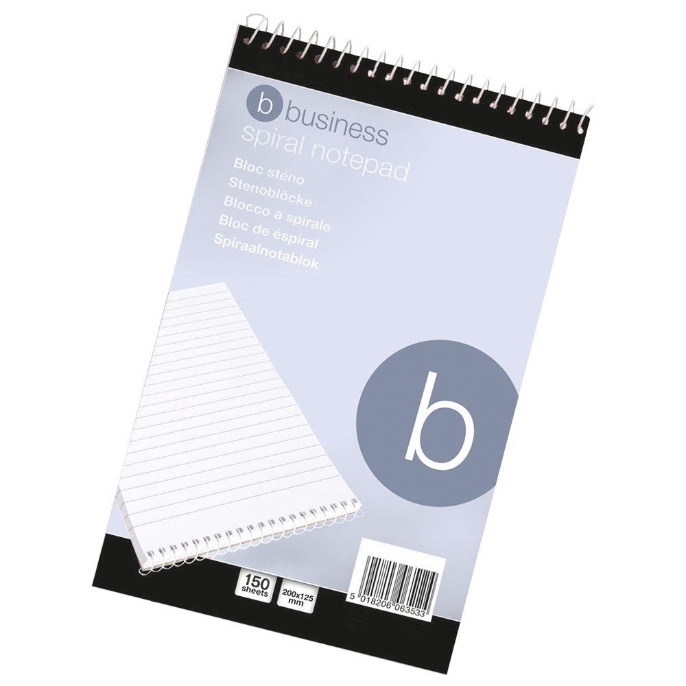 business Office Shorthand Pad Wirebound 60gsm Ruled 300pp 127x200mm Red Pack 10