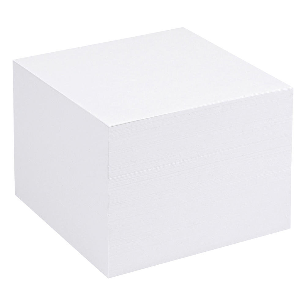 business Office Refill Block for Noteholder Cube Approx. 750 Sheets of Plain Paper 90x90mm White