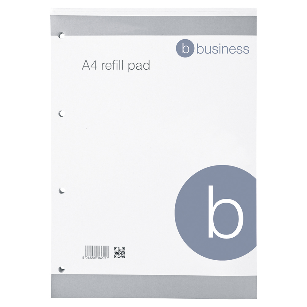 Business Eco Refill Pad 4-Hole Punched 160 Ruled Pages A4 (Pack of 10)
