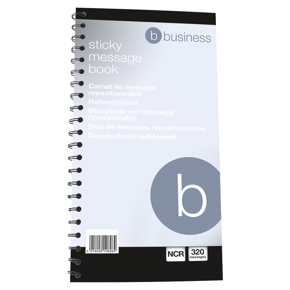 Business Wirebound Telephone Message Book 279 x 152mm Carbonless 320 Sticky Notes over 80 Pages (Pack of 1)