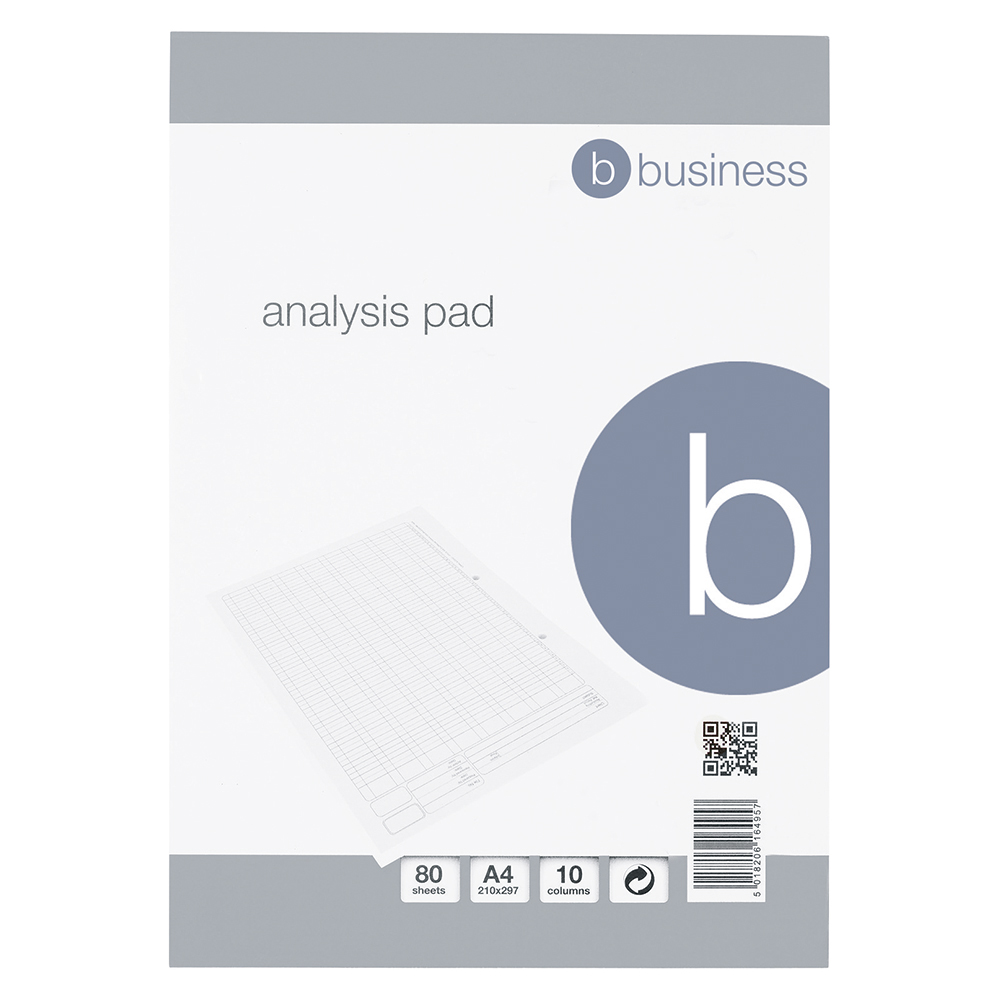 Business Office Analysis Pad 10 Cash Column 53 Weeks A4 White