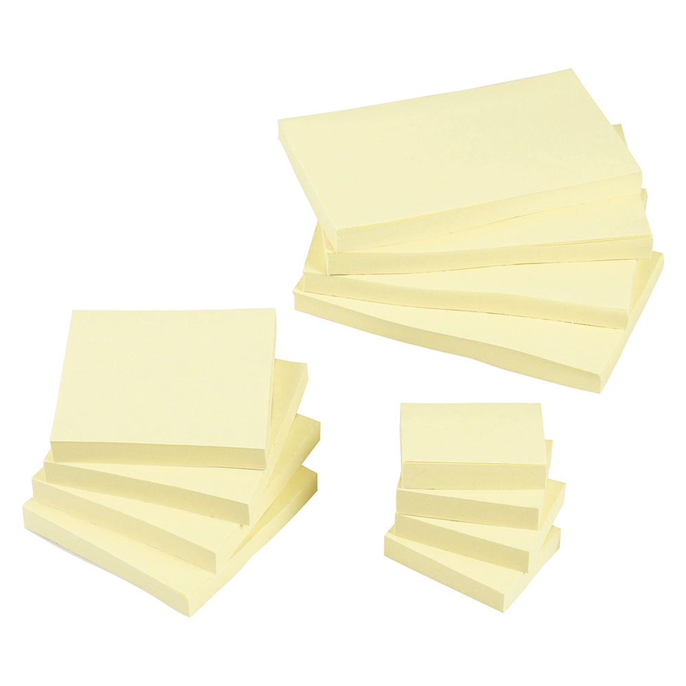 business Office Re-Move Notes Repositionable Pad of 100 Sheets 76x127mm Yellow Pack 12