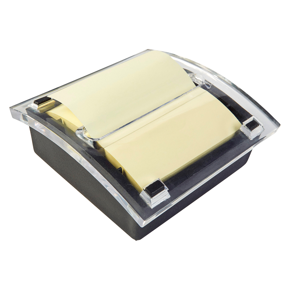 business Office Re-Move Concertina Note Dispenser Acrylic-topped with FREE Pad for 76x76mm Notes