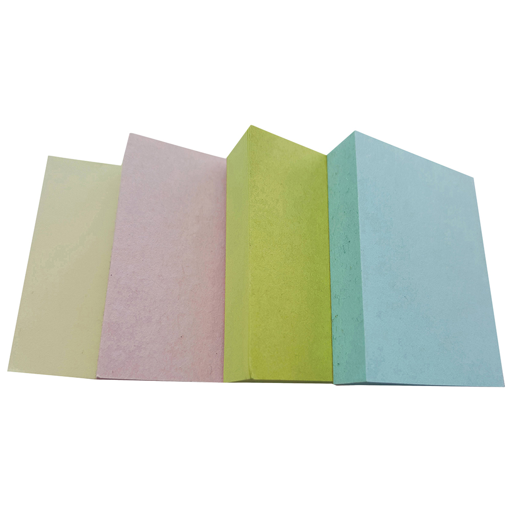 Business Eco Recycled Repositional Notes 38 x 51mm Pastel 100 Sheets per Pad (Pack of 12)
