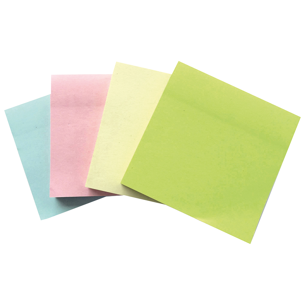 Business Repositional Notes 76 x 76mm Pastel 100 Sheets per Pad (Pack of 12)