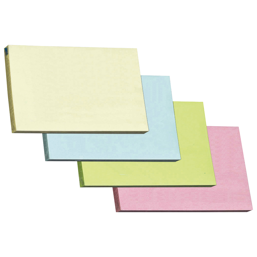 Business Repositional Notes 76 x 127mm Pastel 100 Sheets per Pad (Pack of 12)