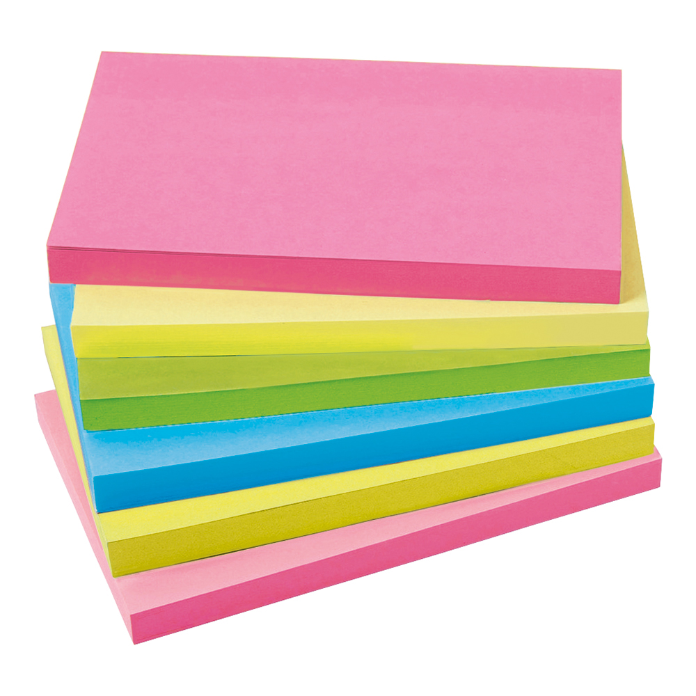 Business Neon 76x127mm Extra Sticky Notes Pack of 6