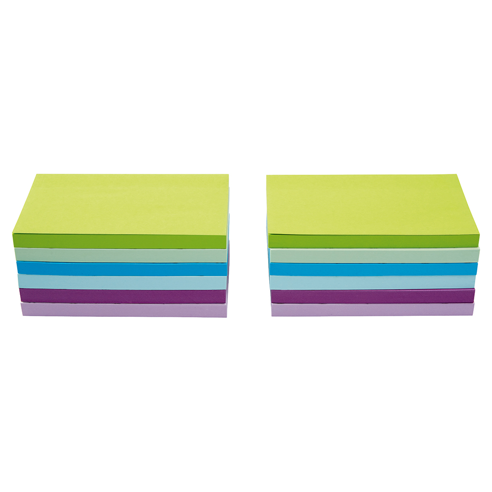 Business Neon/Pastel 76x127mm Sticky Notes Pack of 12