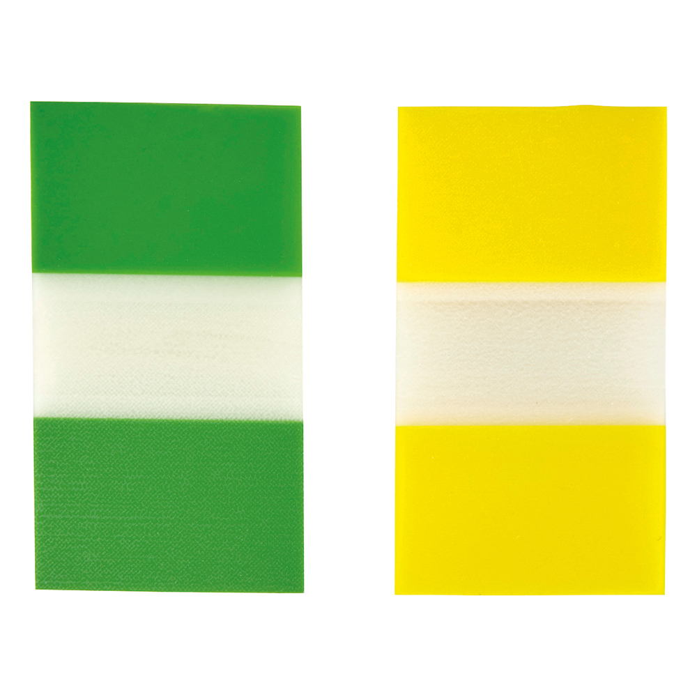 Business Index Flags 25mm Yellow and Green 50 Flags per Colour (Pack of 2)