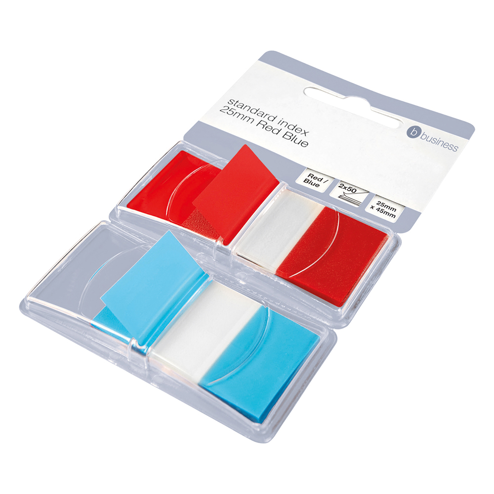 Business Red/Blue 25mm Index Flags Pack of 2