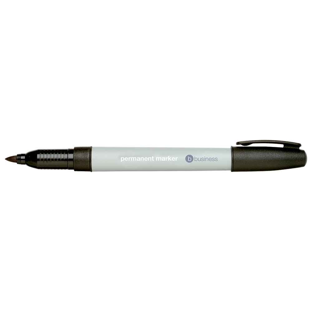 Business Permanent Markers Fine Black (Pack of 10)