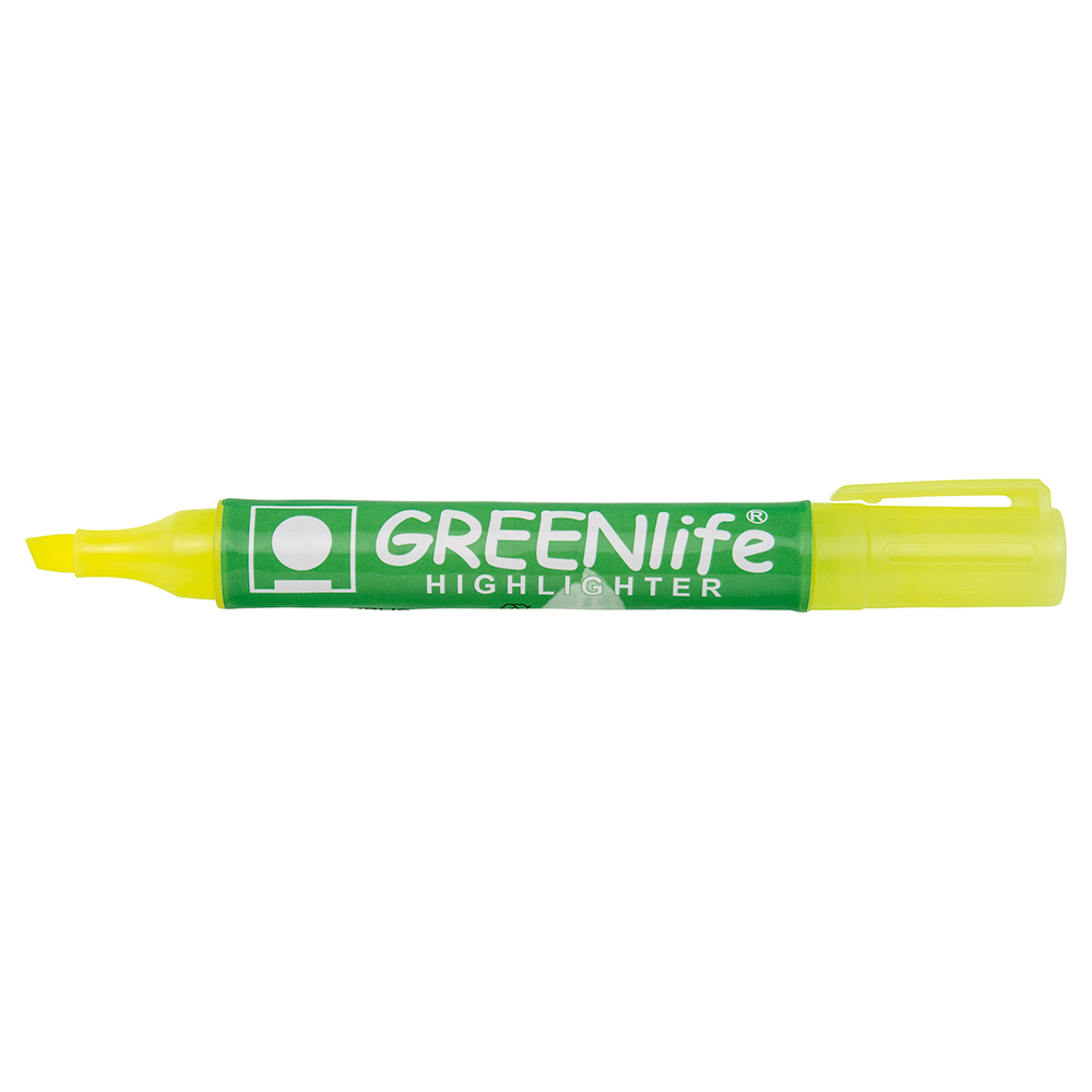 Business Eco Highlighter Chisel Tip 1-5mm Line Yellow Pack 10