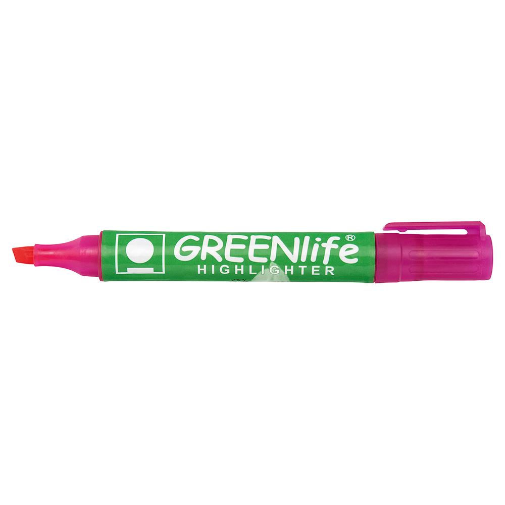 Business Eco Highlighter Chisel Tip 1-5mm Line Pink Pack 10