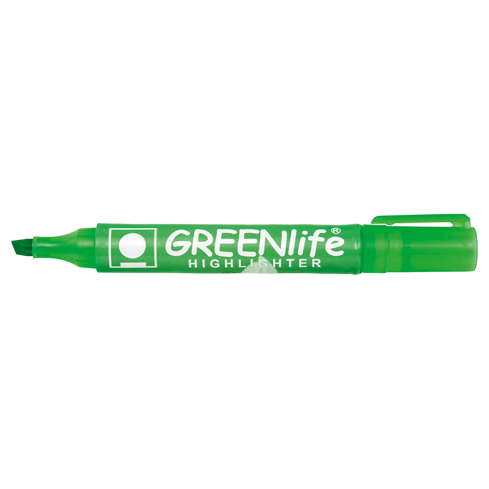 Business Eco Highlighter Chisel Tip 1-5mm Line Green Pack 10