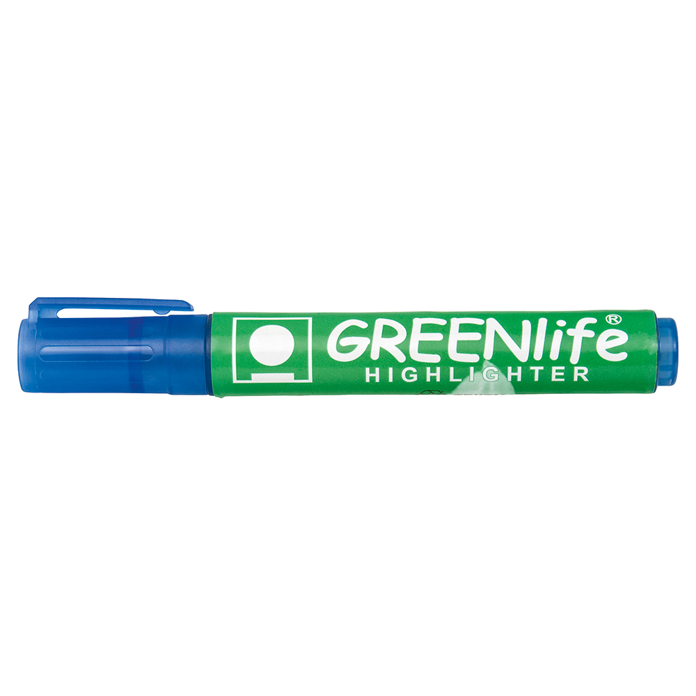 Business Eco Highlighter Chisel Tip 1-5mm Line Blue Pack 10