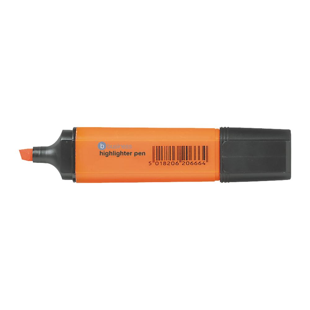 Business Office Highlighter Chisel Tip 1-5mm Line Orange Pack 12