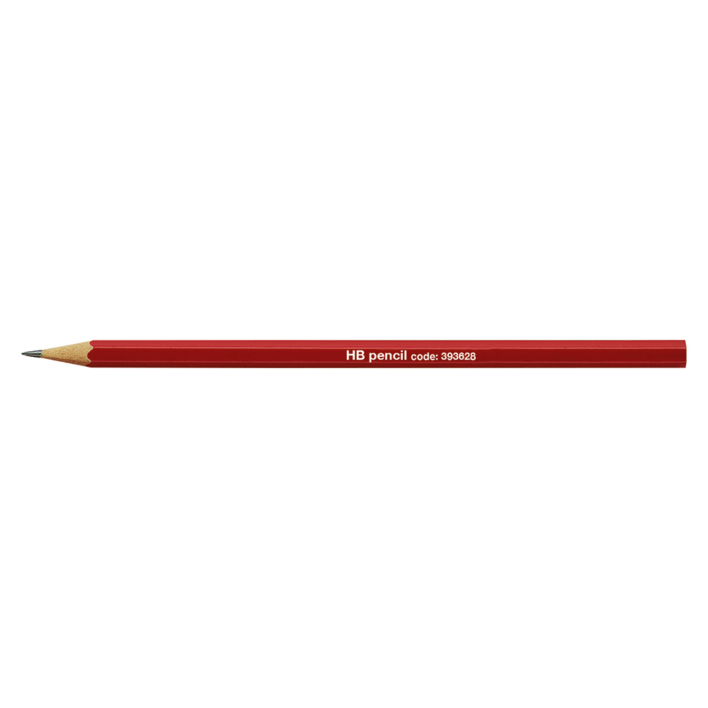 Business Office Pencil HB Red Barrel Pack 12