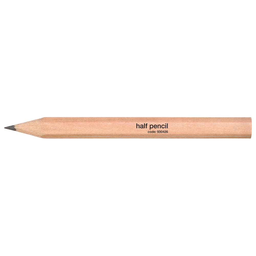 Business Office Half Pencil Wooden Half Length HB Plain Pack 144