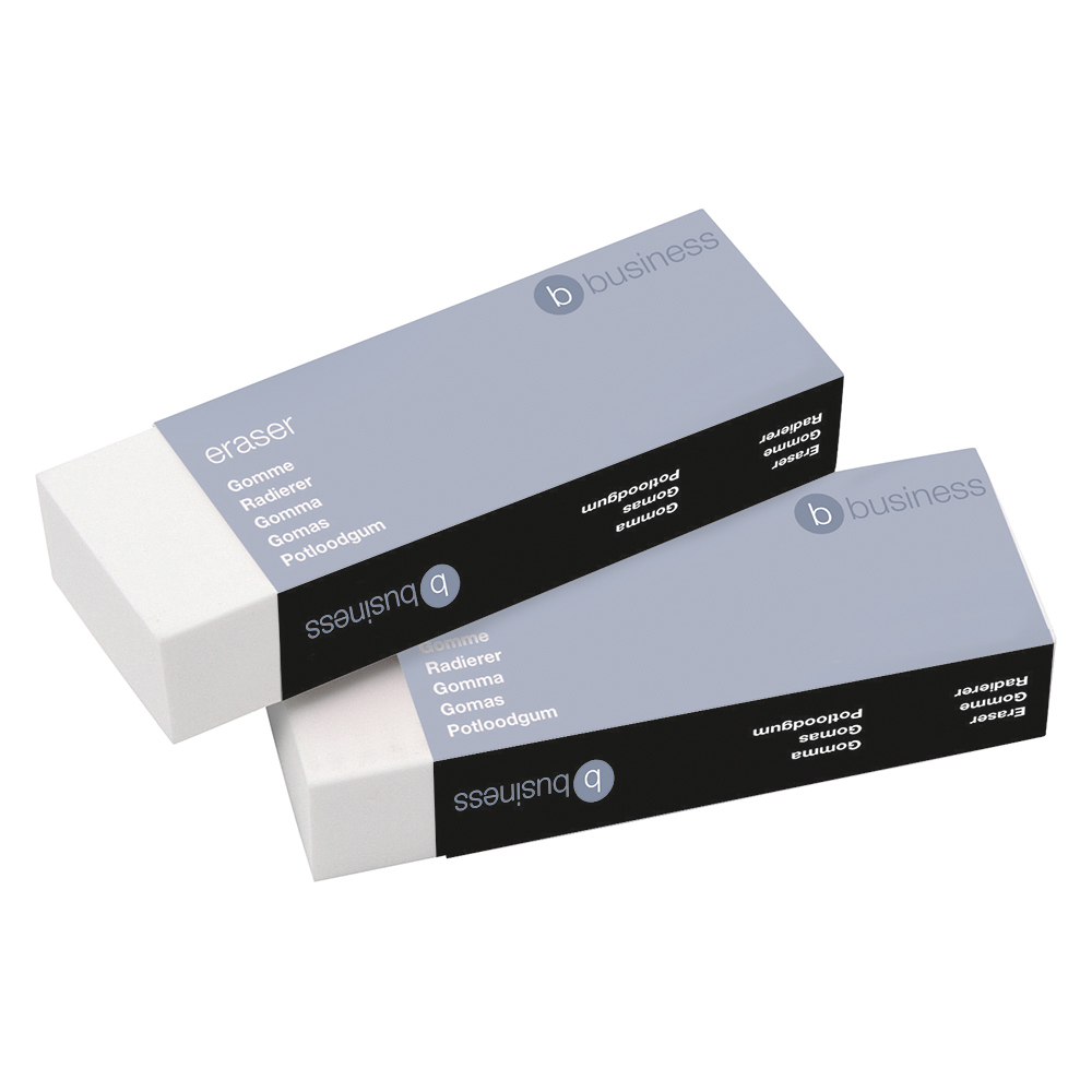 Business Office Plastic Eraser Paper-sleeved 60x21x12mm Pack 10