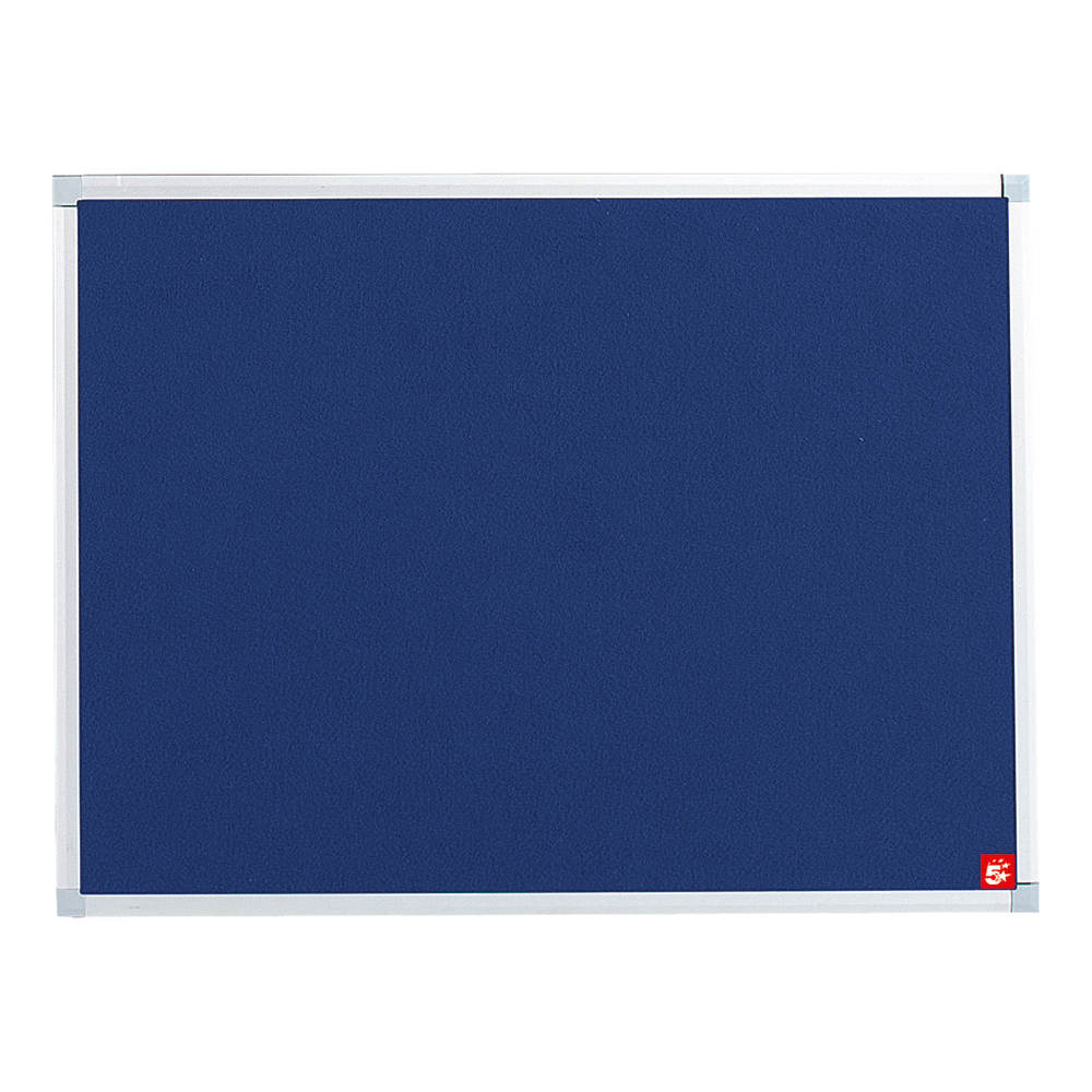 Business Felt Noticeboard with Aluminium Trim 600 x 900mm Blue (Pack of 1)