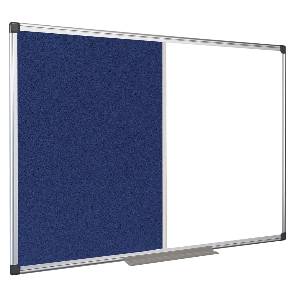 Business Office Combination Notice Board Felt and Drywipe W900xH600mm