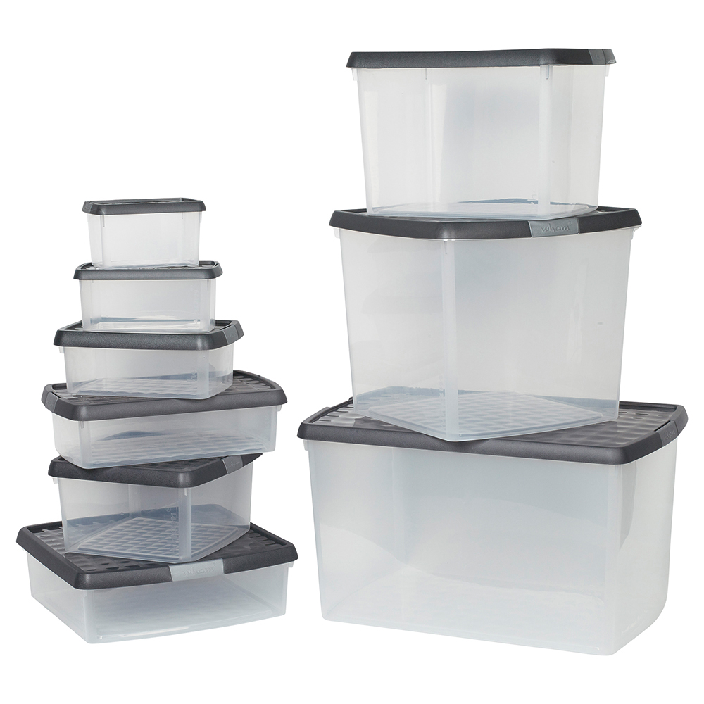 Business Premium Storage Clip Box with Lid 1.5 Litre Clear (Pack of 1)