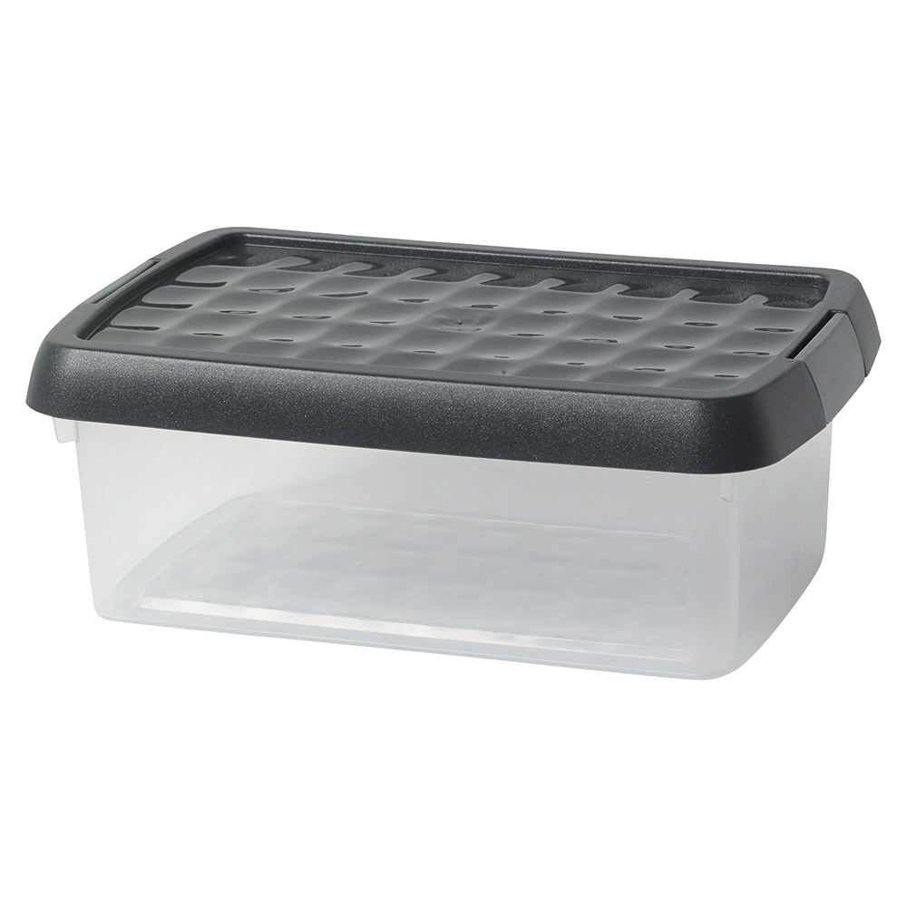 Business Premium Storage Clip Box with Lid 3.8 Litre Clear (Pack of 1)