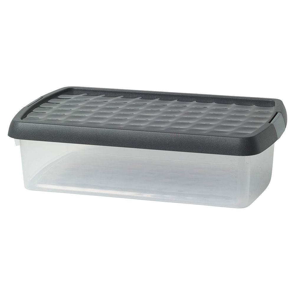 Business Premium Storage Clip Box with Lid 7 Litre Clear (Pack of 1)