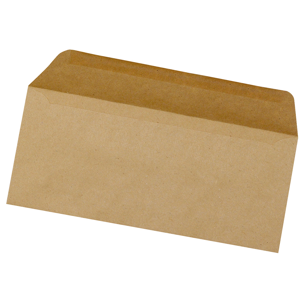business Office Envelopes FSC Wallet Recycled Lightweight Gummed 75gsm DL 220x110mm Manilla Pack 1000
