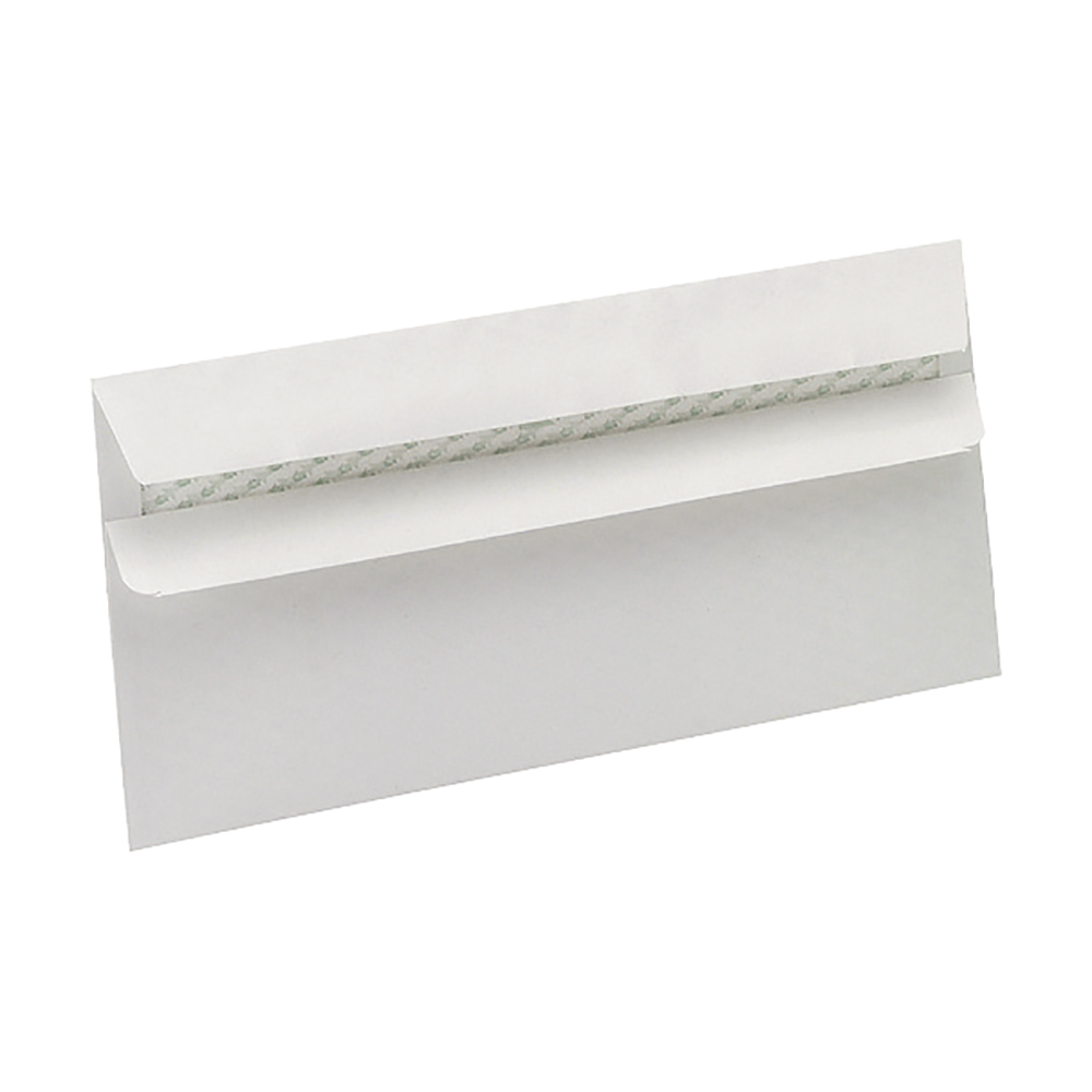 business Eco Envelopes Wallet Recycled Self Seal Window 90gsm DL 220x110mm White Pack 500