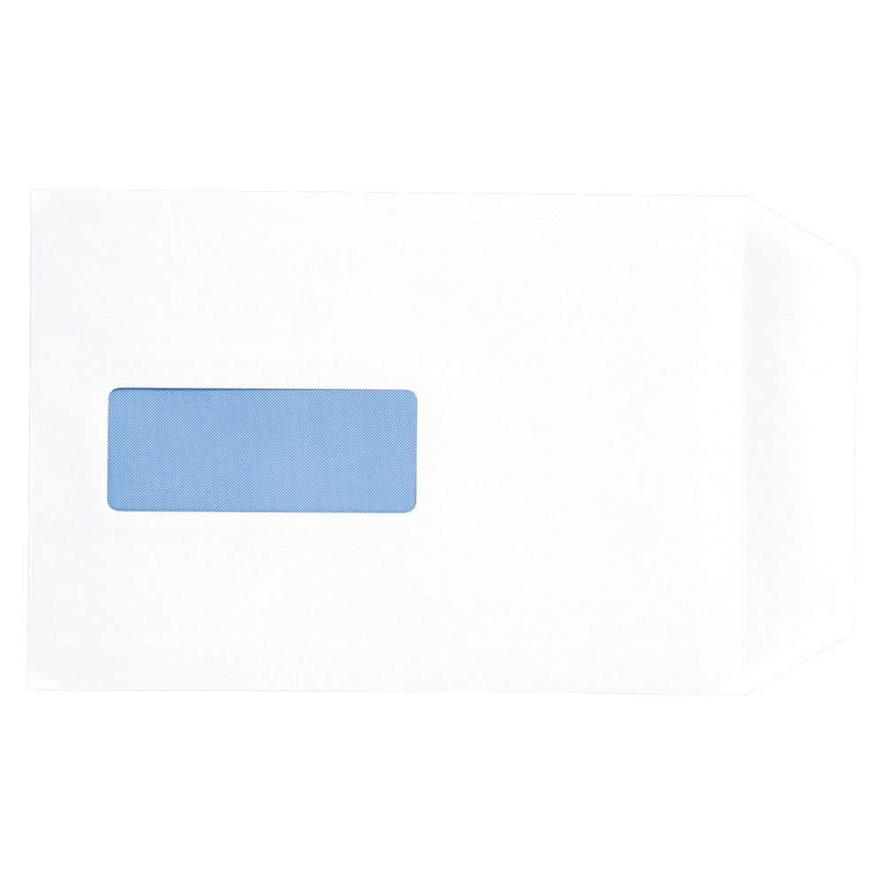 Business Office Envelopes PEFC Pocket Peel & Seal Window 100gsm C5 229x162mm White Pack 500