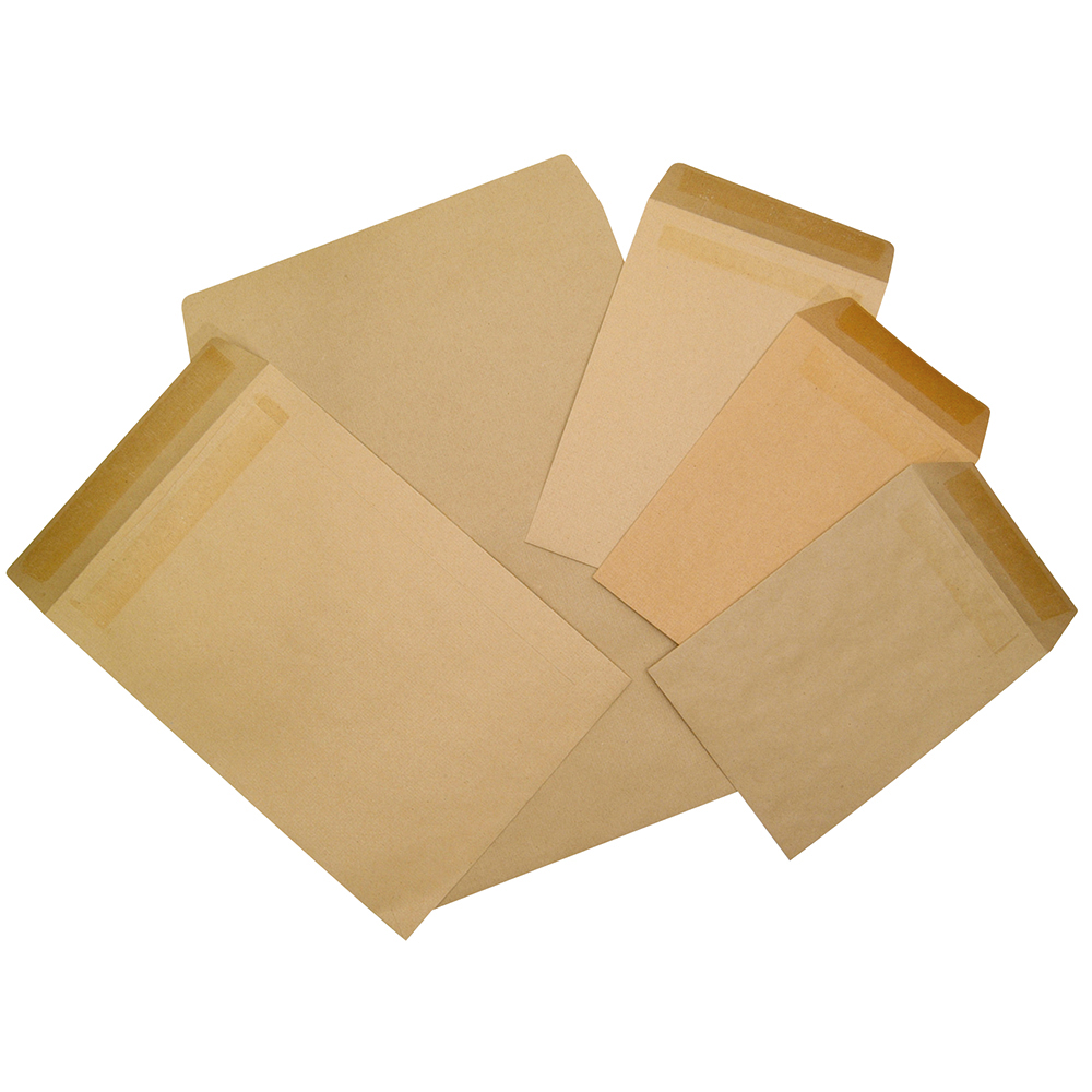 Business Office Envelopes FSC Pocket Self Seal 115gsm C5 229x162mm Manilla Pack 500