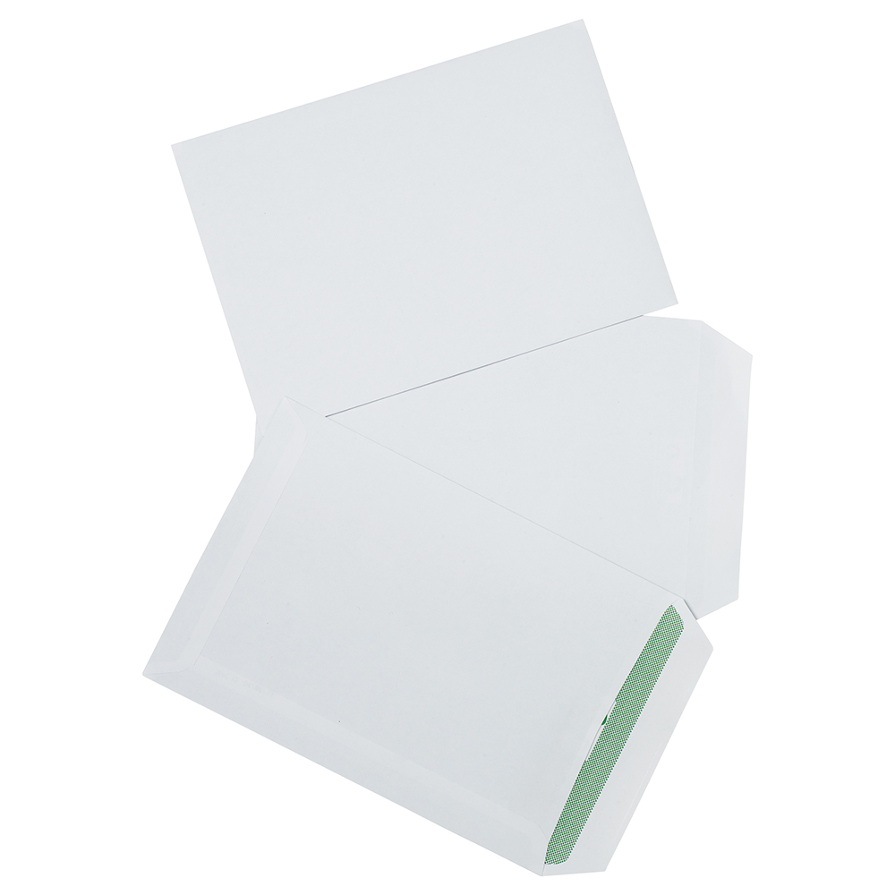Business Eco Envelopes Recycled Pocket Self Seal 90gsm C5 229x162mm White Pack 500