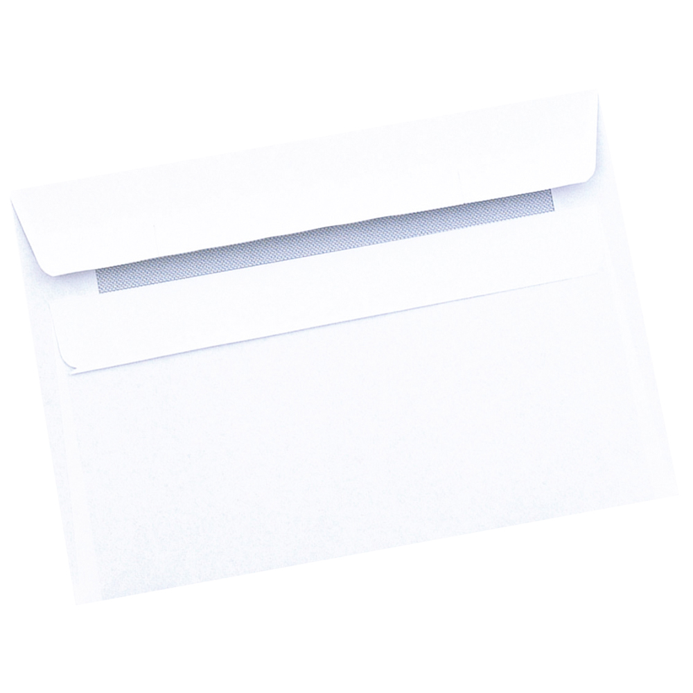 Business Wallet Envelopes C6 80gsm Self Seal White (Retail Pack of 50)