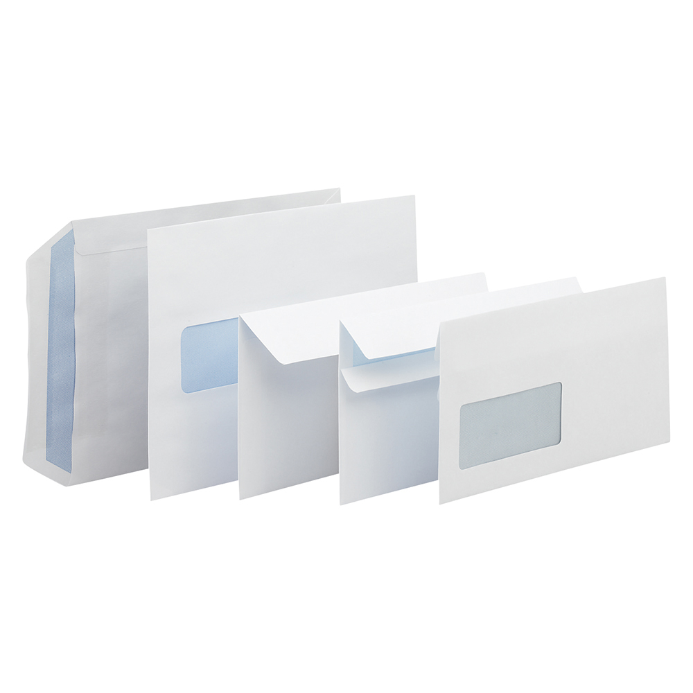 Business Wallet Envelopes C6 80gsm Self Seal White (Pack of 1000)