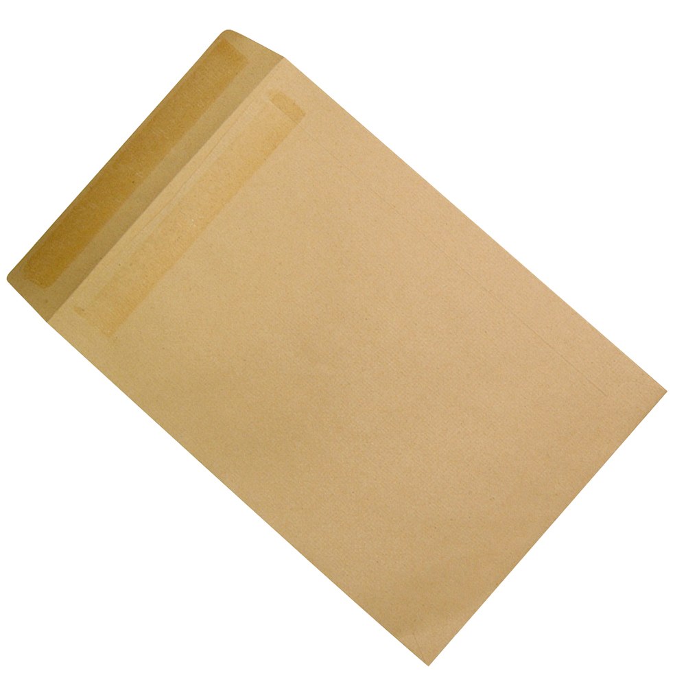 Business Pocket Envelopes 381 x 254mm Mediumweight 115gsm Self Seal Manilla (Pack of 250)
