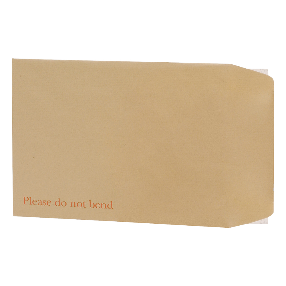 Business Office Envelopes Recycled Board Backed Hot Melt Peel & Seal C4 324x229mm 120gsm Manilla Pack 125